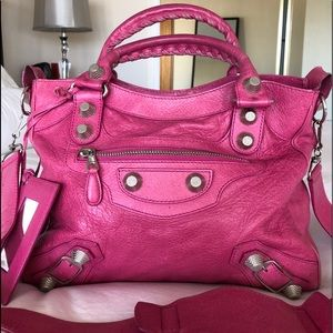 Pink Balenciaga Velo Giant 21 Bag Lightly Worn